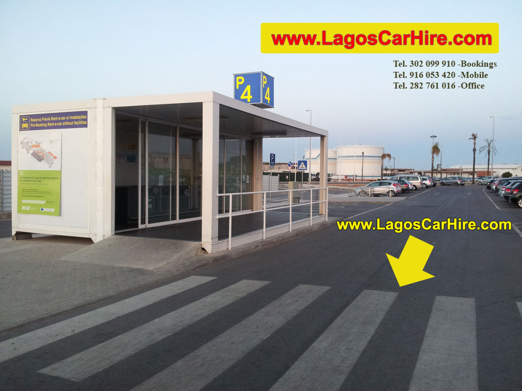 Car Park 4 in Faro Airport that you can find the rental cars of Lagos Car Hire - Luzcar.