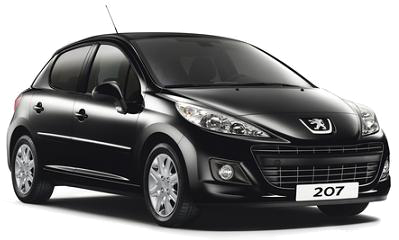 Book a - Peugeot 207 A/C - with LUZCAR