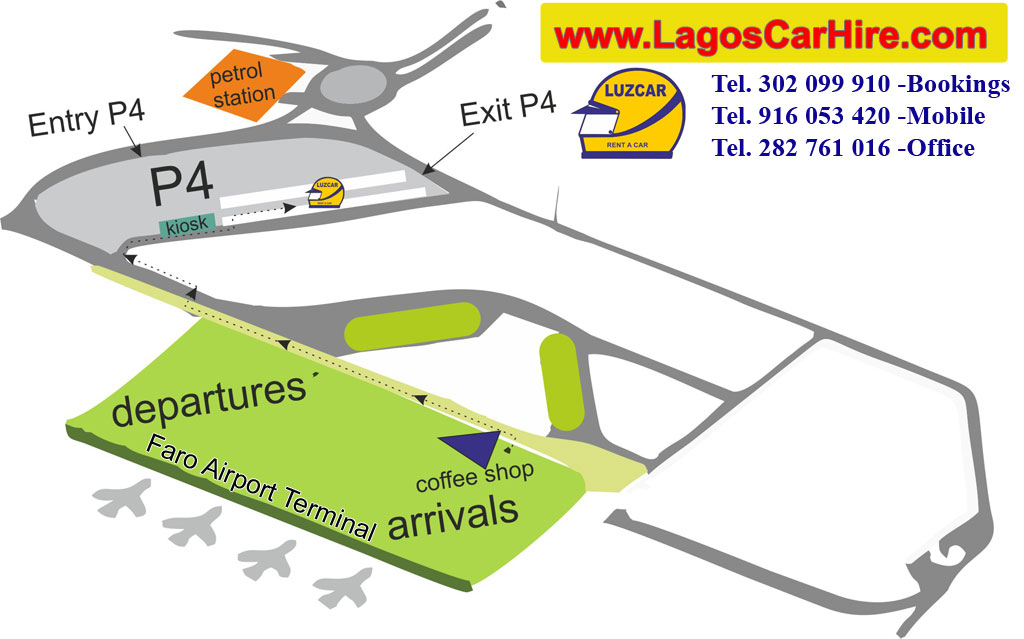 Faro Airport Lagos Car Hire - Luzcar Car Park in Faro Airport